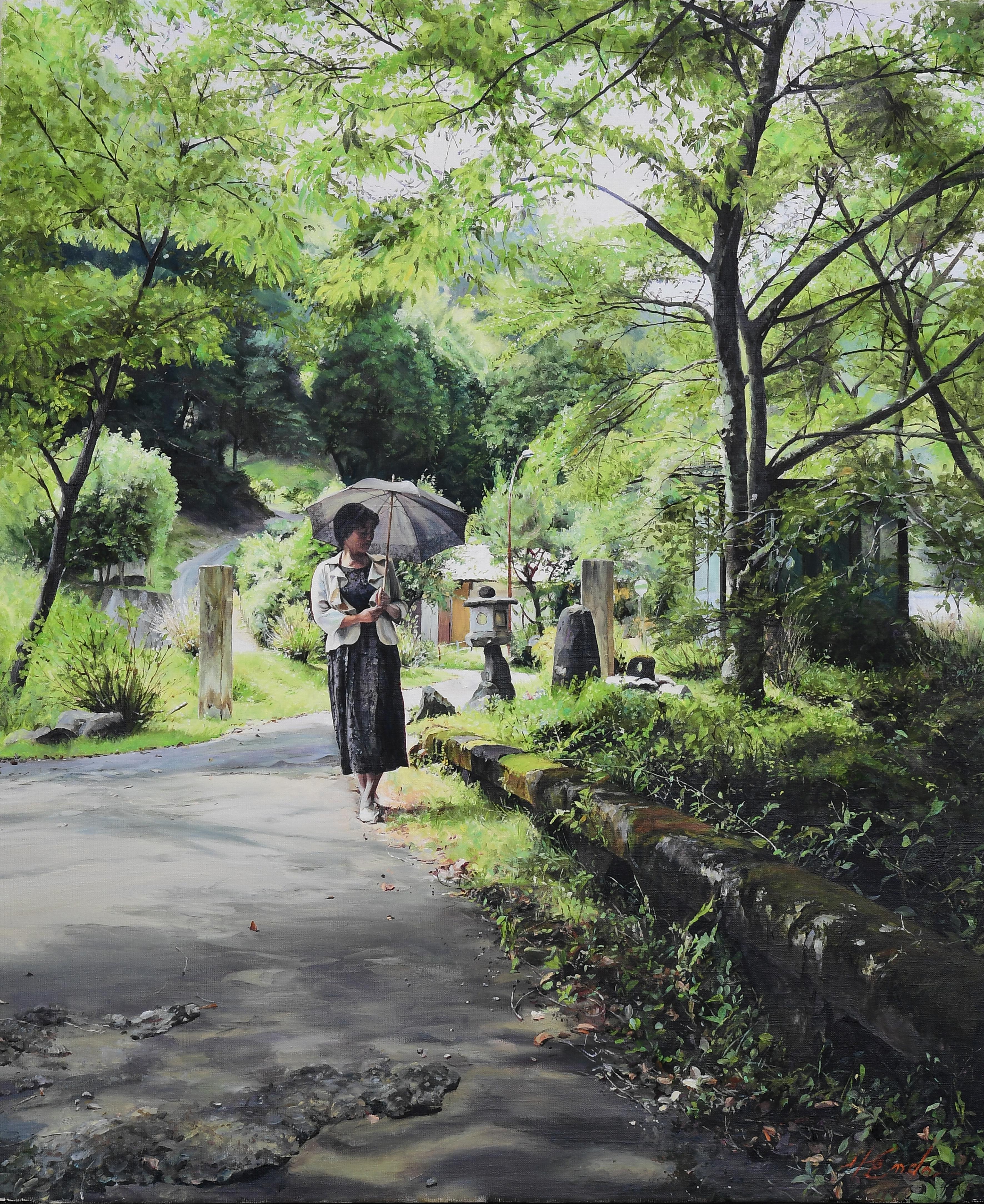 風の迷い道|絵画・油絵・風景画
