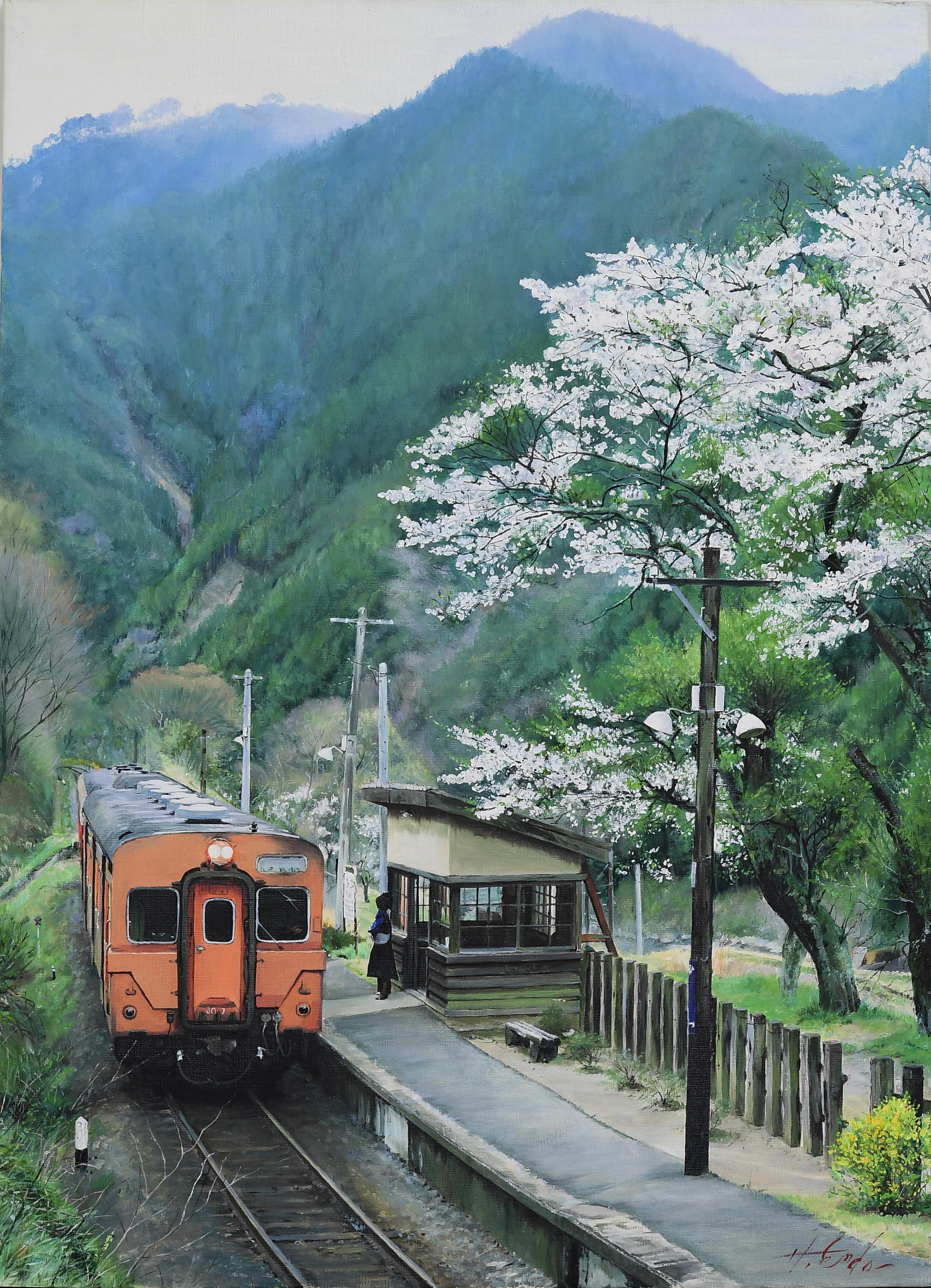 春風に乗り|絵画・油絵・風景画